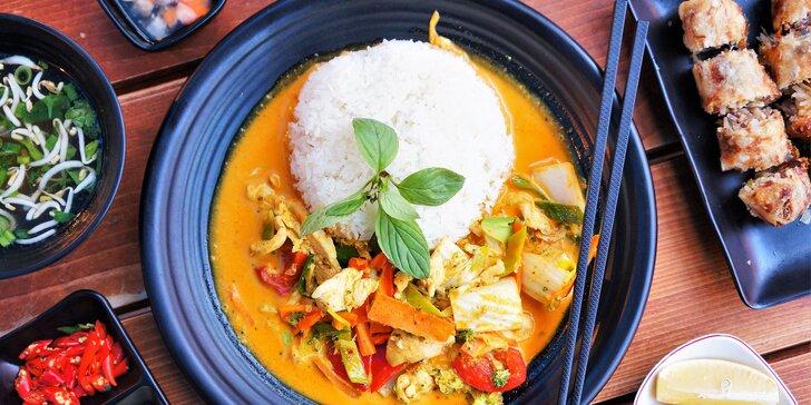 Vietnamská kuchyně v Brně: kari, polévka a smažené závitky pro 1 nebo 2