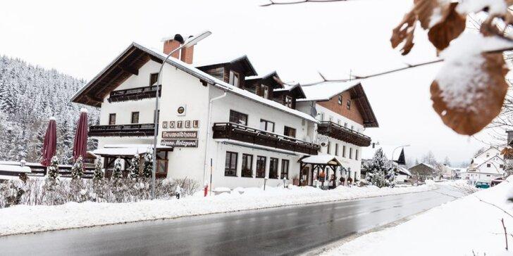 Zimní aktivní dovolená na Šumavě s polopenzí a saunou pro páry i rodiny