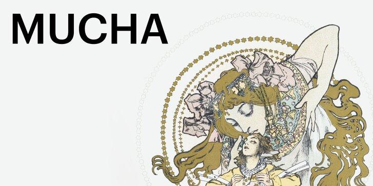 2 vstupenky na výstavu Alfonse Muchy v galerii na Staroměstském náměstí