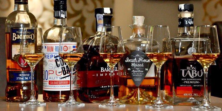 Rumová degustace: ochutnejte 5 druhů včetně nejlepšího rumu světa