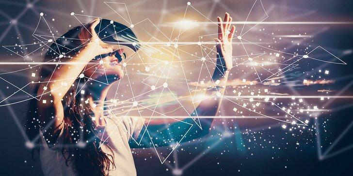 Virtuální realita na hodinu či dvě, pro jednotlivce i skupinky, 40 her na výběr