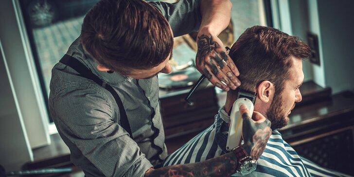 Kompletní barber balíček pro pány: střih, masáž hlavy, holení i kolínská