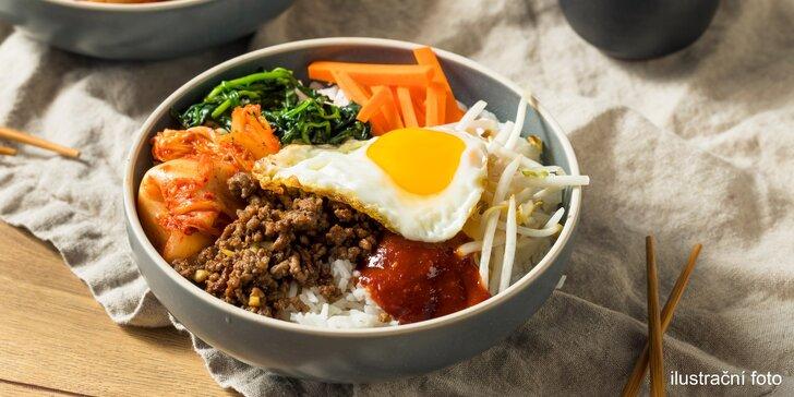 Pochutnejte si v centru Prahy: kimchi polévka a bibimbap pro 1 i 2 osoby