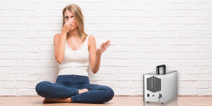 Dokonalá čistota - dezinfekce ozónem: místnost, lednička i textílie