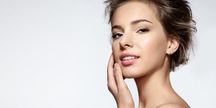 Kosmetické ošetření pleti včetně ultrazvukové špachtle a masáže obličeje