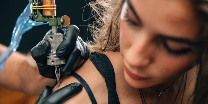 Tetování v salonu podle vlastního návrhu včetně konzultace