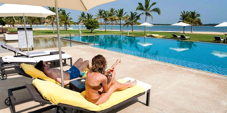 Překrásný 5* resort na Srí Lance: 6–12 nocí, polopenze, bazén, 20 m od pláže