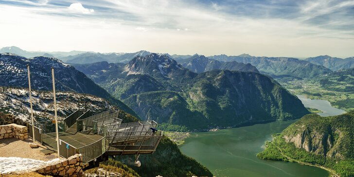 Výlet na Dachstein do Rakouska: úžasná vyhlídka Pět prstů i Mamutí jeskyně