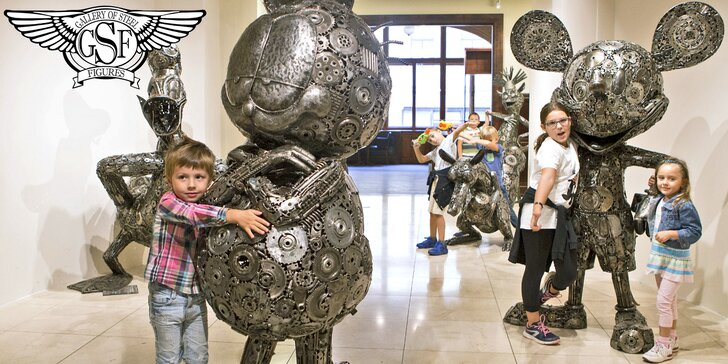 Galerie ocelových figurín: sci-fi a komiksoví superhrdinové, auta i dinosauři