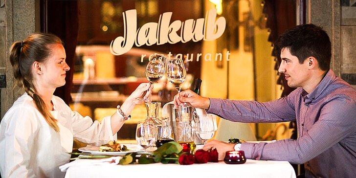 5chodové degustační menu pro dva v luxusní restauraci v centru Krumlova