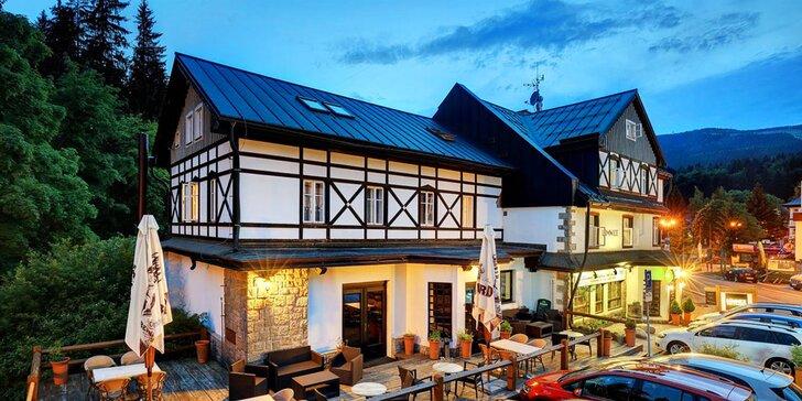 Pohoda ve Špindlu: hotel v centru, vynikající jídlo, přátelský personál