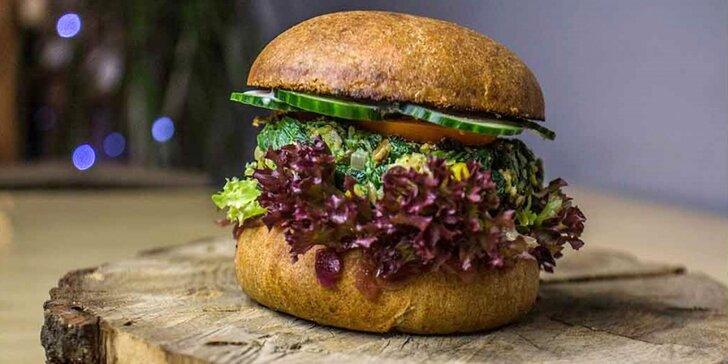 Bašta nejen pro vegany: špenátový, řepový či portobello burger
