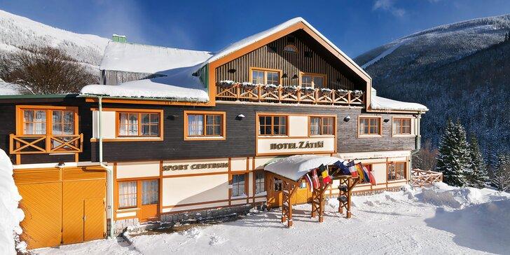 Parádní pobyt v horském hotelu ve Špindlerově Mlýně s wellness i polopenzí