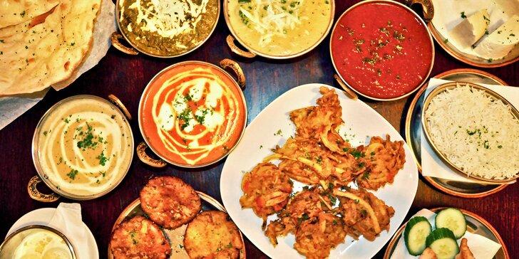 Indická hostina pro 2 nebo 4: Autentické menu o třech chodech