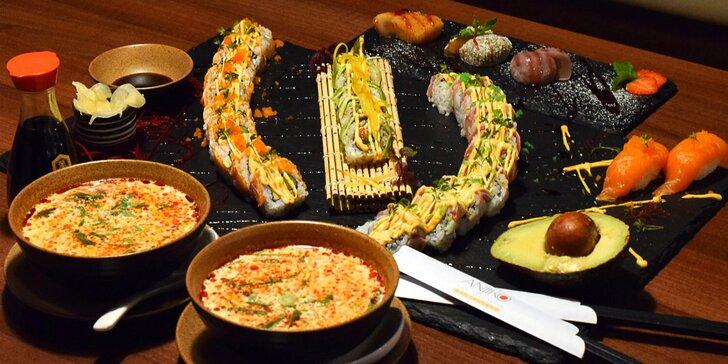 Vábivé vůně východu: vietnamské menu s polévkou a sushi pro 2 osoby