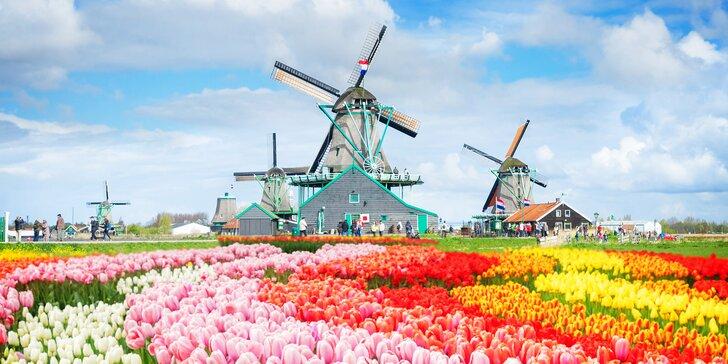 Rozkvetlý Keukenhof, Amsterdam, větrné mlýny: doprava, 2–3 noci se snídaní
