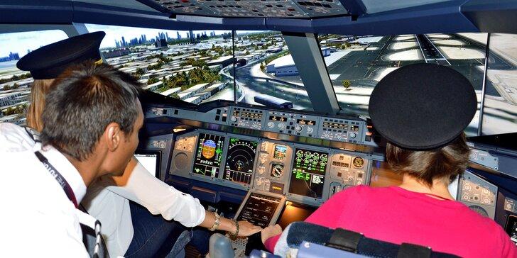 Staňte se pilotem Airbusu A380: simulátor největšího dopravního letadla