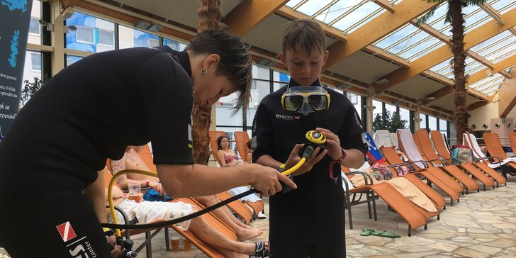 Hurá pod vodu: potápěčský kroužek pro děti od 6 let - 1, 3 nebo 6 lekcí