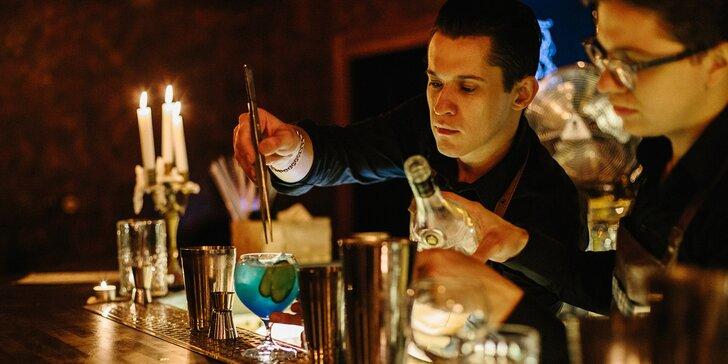 2 drinky podle výběru i s předkrmem: Mojito, Long Island i Raspberry Rush