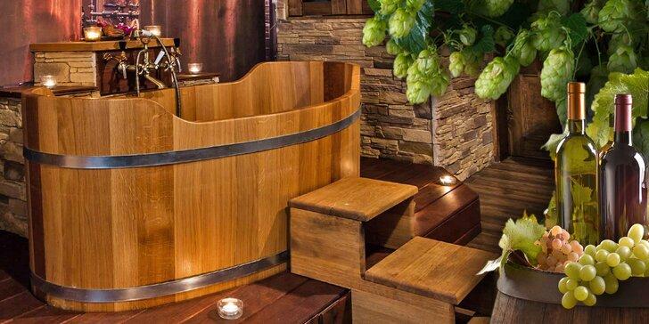 Relaxační 3hodinový balíček pro 2 osoby: sauna, masáž, koupel i občerstvení