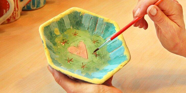 Malování originální keramiky Maříž®: 1 nebo 4 misky v dílně v Praze či Maříži