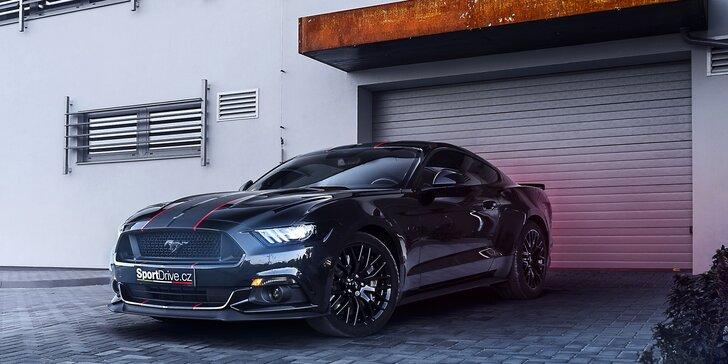 Jízda snů: 15–60 minut za volantem nabušeného Fordu Mustang GT 5.0