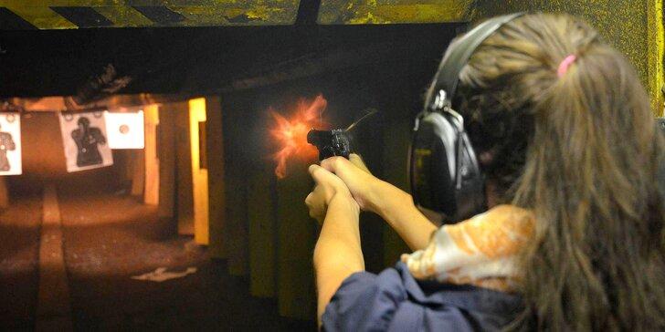 Střelecké balíčky v podzemní střelnici: dlouhé i krátké zbraně, 30–100 nábojů