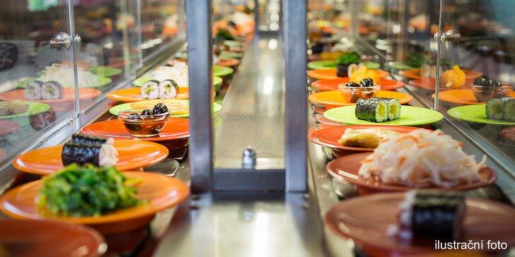 Ulovte si asijské speciality: 2 hodiny neomezené konzumace running sushi