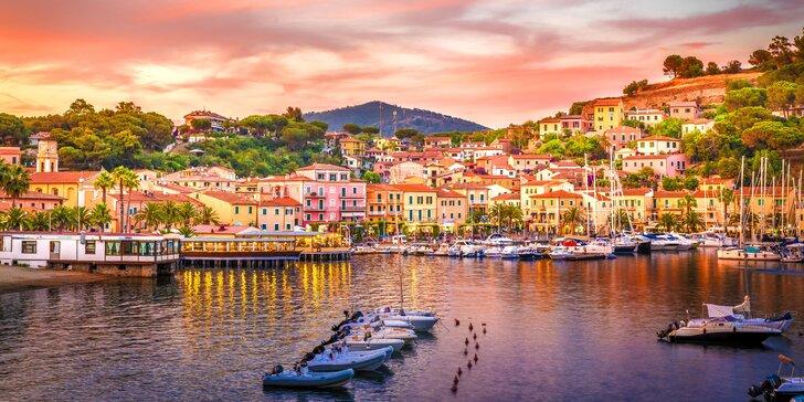 4 noci na ostrově Elba: koupání v moři, výlety, autokar a 4* hotel s polopenzí