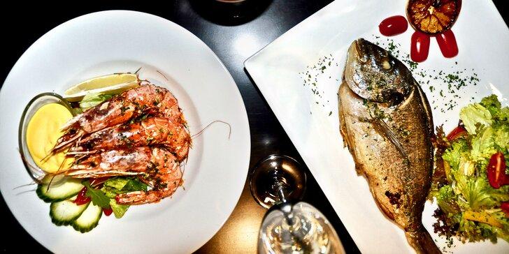 Degustační menu pro 2 milovníky Itálie: krevety, pražma, dezert i víno