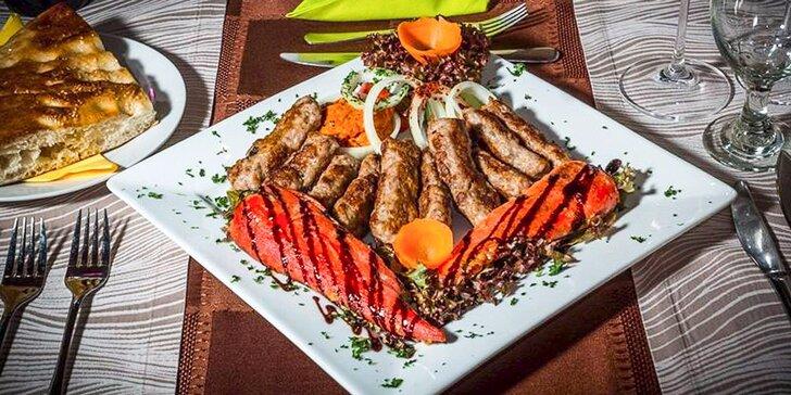 Víkendová akce pro rodinu: All you can eat v balkánské restauraci Singidunum