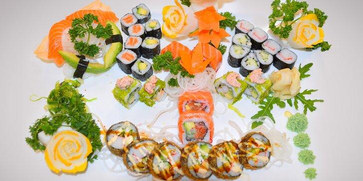 Sushi sety s 22 či 32 kousky: zdravá pochoutka s lososem, tuňákem i krevetou
