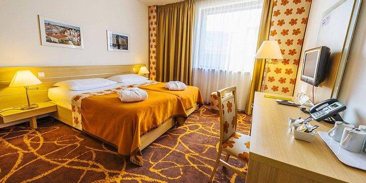 4* hotel u Eden Arény: snídaně, 6chodové menu i výhled na fotbalové hřiště