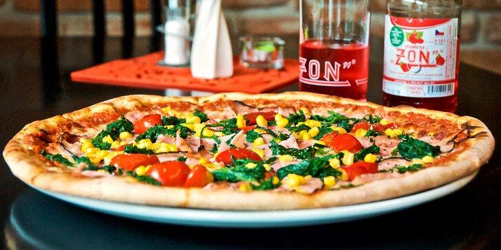 Klasická pizza pro 1 nebo 2 u Montyho: ⌀ 33 cm, výběr ze 12 druhů
