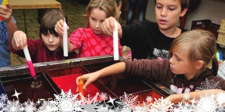 Vánoční tvoření pro malé i velké ve svíčkárně Rodas vč. občerstvení
