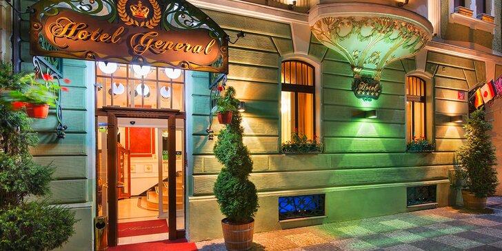 Pobyt v elegantním 5* hotelu v Praze: snídaně, romantická večeře a sauna