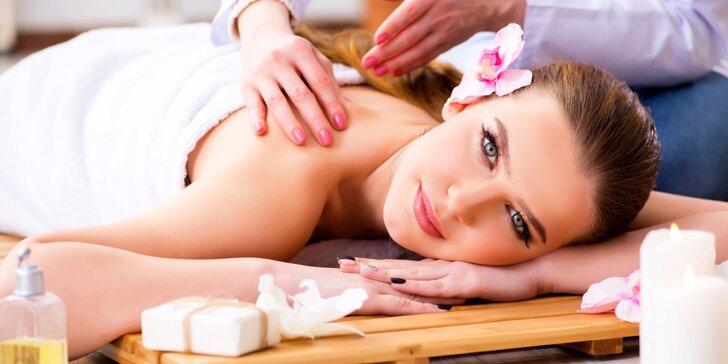 Klid a pohoda: rekondiční a uvolňující masáž zad a šíje s nahřátím