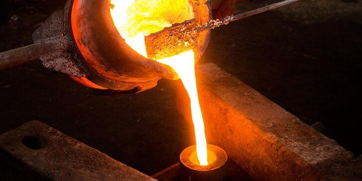 Vytvořte někomu vlastní šperk z kovu: kurz odlévání vč. exkurze do dílny