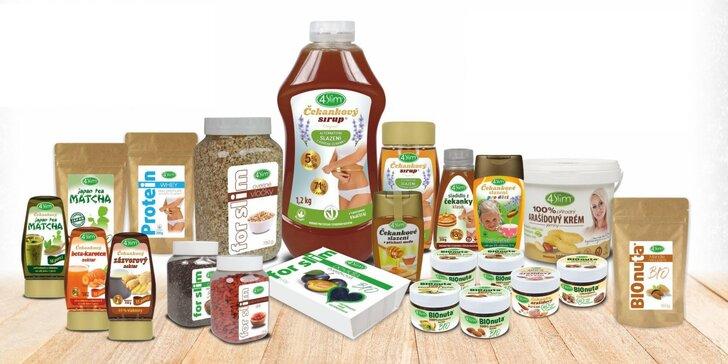 Otevřený voucher do obchodu 4Slim: zdravá výživa, bio a fitness strava
