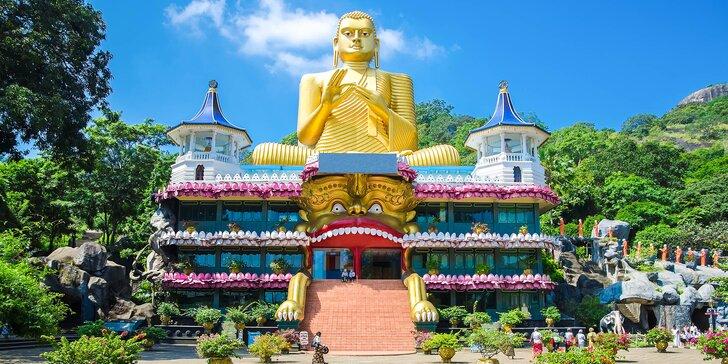 Poznávací zájezd na Srí Lanku: letenka, 12 nocí se snídaní a český průvodce