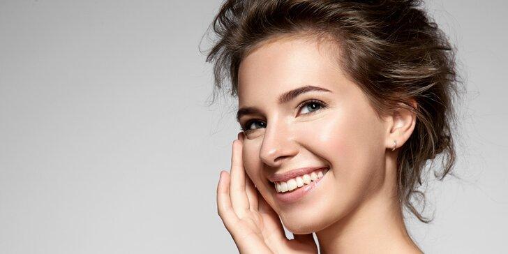 Kosmetické ošetření pro svěží a krásnou pleť s masáží a barvením řas i obočí