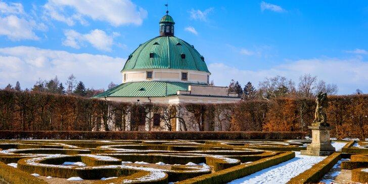 Romantika v centru UNESCO Kroměříži: 3 dny v pokoji nebo v apartmánu