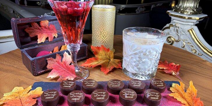 Molekulární menu: Podzim v Crazy Daisy - čokoládové pralinky a koktejl