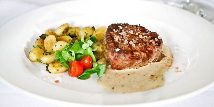 Dárkový voucher do restaurace Pod Terasami: steaky, česká klasika i saláty