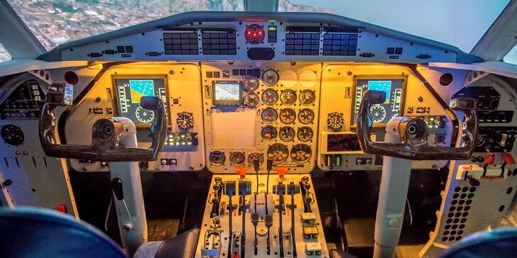 20min. let na simulátoru dopravního letounu L410 s originálním kokpitem
