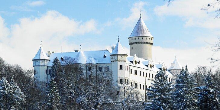 Wellness pobyt u zámku Konopiště s poukázkou na romantickou večeři