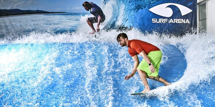 Chyťte vlnu: jízdy na surfovém simulátoru a budget v baru nebo občerstvení