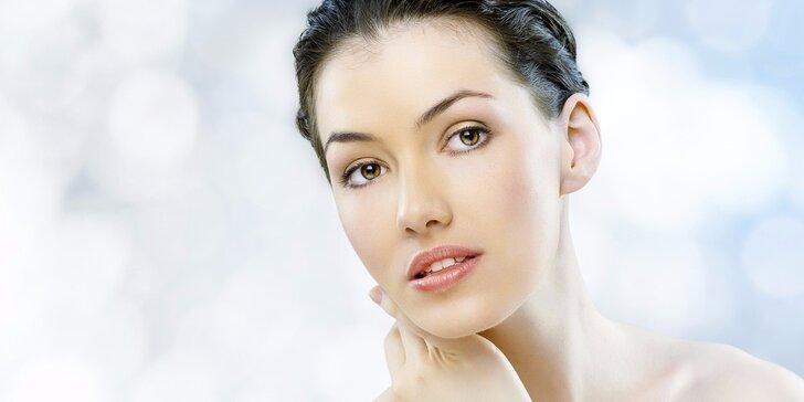 Kompletní kosmetické ošetření pleti včetně masáže obličeje a úpravy obočí