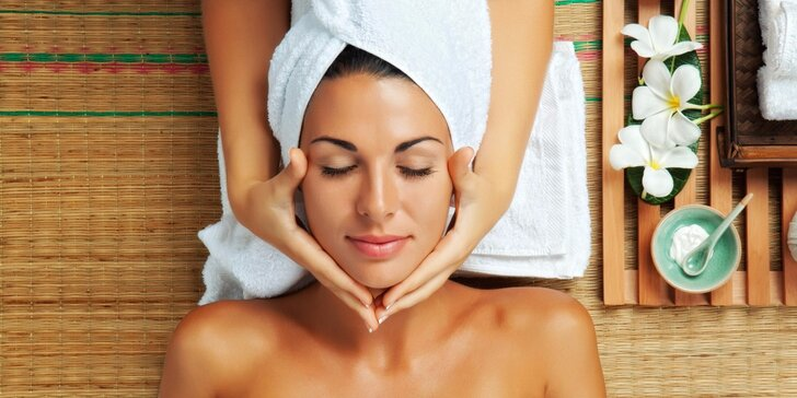 Luxusní kompletní a regenerační péče o pleť s masáží hlavy