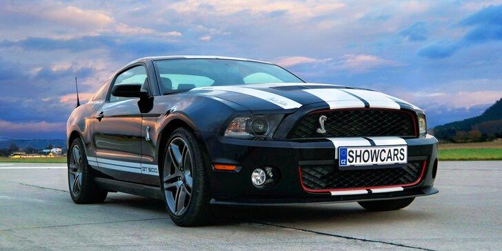 Prožeňte 683 koní pod kapotou: jízda žihadlem Ford Mustang GT500 SHELBY